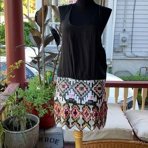 Parker dress with sequin skirt